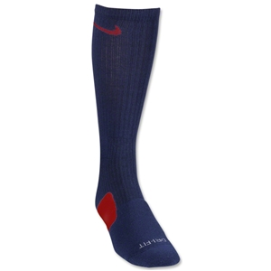 Nike Elite Crew Sock (Navy/Red)