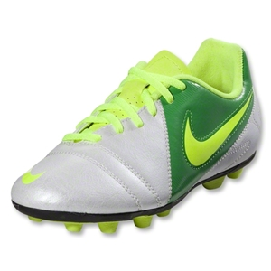 Nike Junior CTR360 Enganche III FG-R (White/Volt/Court Green)