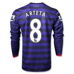 Arsenal 12/13 ARTETA LS Away Soccer Jersey