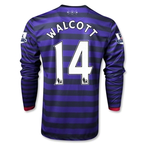Arsenal 12/13 WALCOTT LS Away Soccer Jersey