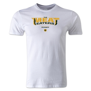 Meat Eaters Alternative Rugby Commentary T-Shirt (White)