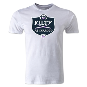 Kilty as Charged Alternative Rugby Commentary T-Shirt (White)