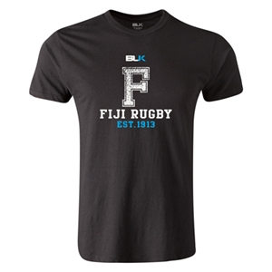 Fiji Rugby Premier Supporter T-Shirt (Black)