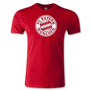 Bayern Munich Logo Men's Fashion T-Shirt (Red)