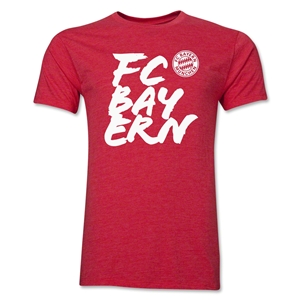 Bayern Munich FC Bayern Men's Fashion T-Shirt (Heather Red)