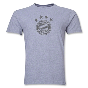 Bayern Munich Team Badge Men's Fashion T-Shirt (Gray)