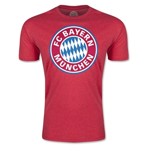 Bayern Munich Logo Men's Fashion T-Shirt (Heather Red)