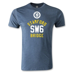 Stamford Bridge SW6 Men's Fashion T-Shirt (Blue)