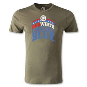 Chelsea Red White and Blue Men's Fashion T-Shirt (Olive)