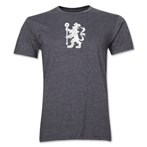 Chelsea Distressed Lion Men's Fashion T-Shirt (Dark Gray)