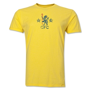 Chelsea Distressed Retro Men's Fashion T-Shirt (Yellow)