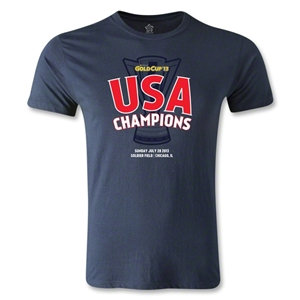 USA CONCACAF Gold Cup 2013 Champions Men's Fashion T-Shirt (White)