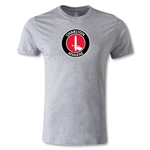 Charlton Athletic Crest Men's Fashion T-Shirt (Gray)