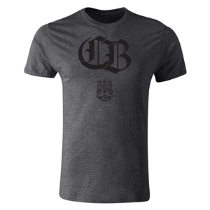 Charleston Battery CB Men's Fashion T-Shirt (Dark Gray)