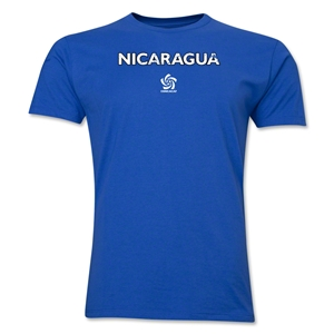 Nicaragua CONCACAF Distressed Men's Fashion T-Shirt (Royal)