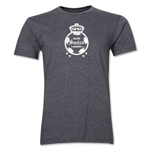 Santos Laguna Distressed Men's Fashion T-Shirt (Dark Gray)
