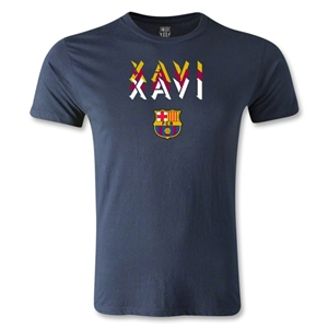 Barcelona Xavi Men's Fashion T-Shirt (Navy)