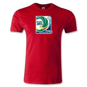 FIFA Confederations Cup 2013 Men's Fashion Emblem T-Shirt (Red)