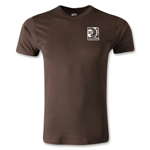 FIFA Confederations Cup 2013 Men's Fashion Small Emblem T-Shirt (Brown)