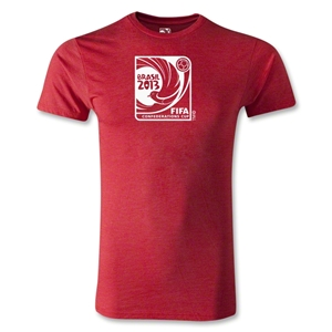 FIFA Confederations Cup 2013 Men's Fashion Emblem T-Shirt (Heather Red)