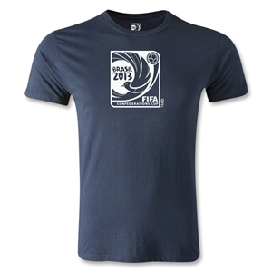 FIFA Confederations Cup 2013 Men's Fashion Emblem T-Shirt (Navy)