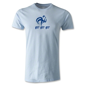 France FFF Men's Fashion T-Shirt (Sky Blue)