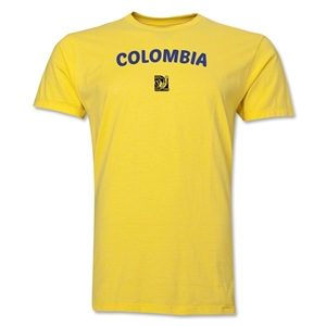 Colombia FIFA U-17 Women's World Cup Costa Rica 2014 Men's Core T-Shirt (Yellow)