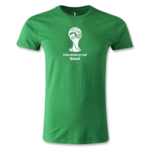 2014 FIFA World Cup Brazil(TM) Men's Fashion Emblem T-Shirt (Green)