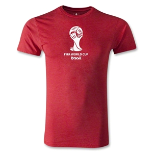 2014 FIFA World Cup Brazil(TM) Men's Premium Emblem T-Shirt (Heather Red)