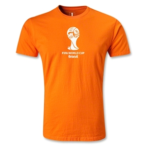 2014 FIFA World Cup Brazil(TM) Men's Premium Emblem T-Shirt (Orange)