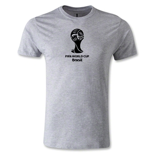 2014 FIFA World Cup Brazil(TM) Men's Premium Emblem T-Shirt (Gray)