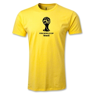 2014 FIFA World Cup Brazil(TM) Men's Fashion Emblem T-Shirt (Yellow)