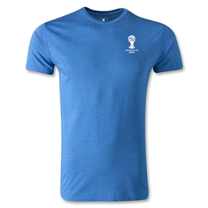 2014 FIFA World Cup Brazil(TM) Men's Emblem Premium T-Shirt (Heather Royal)