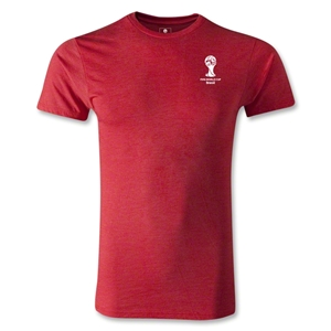 2014 FIFA World Cup Brazil(TM) Men's Emblem Premium T-Shirt (Heather Red)
