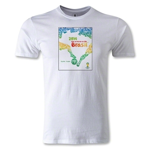 2014 FIFA World Cup Event Poster T-Shirt (White)