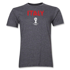 Italy 2014 FIFA World Cup Brazil(TM) Men's Premium Core T-Shirt (Dark Grey)