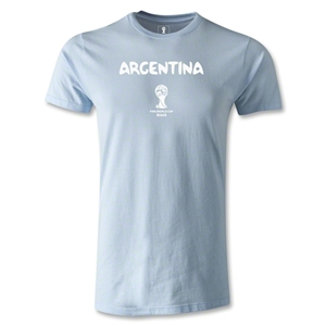 Argentina 2014 FIFA World Cup Brazil(TM) Men's Premium Core T-Shirt (Sky)