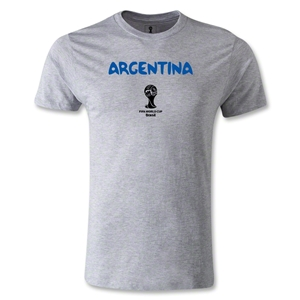 Argentina 2014 FIFA World Cup Brazil(TM) Men's Premium Core T-Shirt (Grey)