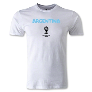 Argentina 2014 FIFA World Cup Brazil(TM) Men's Premium Core T-Shirt (White)
