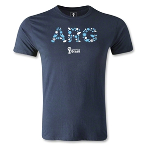 Argentina 2014 FIFA World Cup Brazil(TM) Men's Premium Elements T-Shirt (Navy)