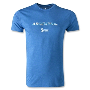 Argentina 2014 FIFA World Cup Brazil(TM) Men's Premium Palm T-Shirt (Heather Royal)