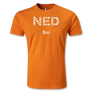 Netherlands 2014 FIFA World Cup Brazil(TM) Men's Premium Elements T-Shirt (Orange)