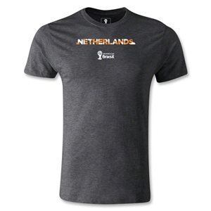 Netherlands 2014 FIFA World Cup Brazil(TM) Men's Premium Palm T-Shirt (Dark Grey)
