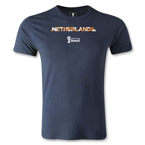 Netherlands 2014 FIFA World Cup Brazil(TM) Men's Premium Palm T-Shirt (Navy)