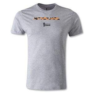 Netherlands 2014 FIFA World Cup Brazil(TM) Men's Premium Palm T-Shirt (Grey)