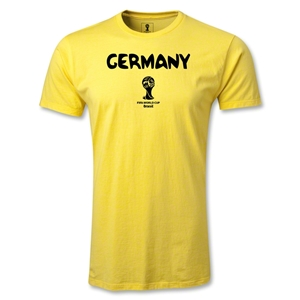 Germany 2014 FIFA World Cup Brazil(TM) Men's Premium Core T-Shirt (Yellow)