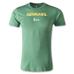 Germany 2014 FIFA World Cup Brazil(TM) Men's Premium Palm T-Shirt (Heather Green)