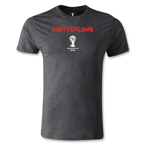 Switzerland 2014 FIFA World Cup Brazil(TM) Men's Premium Core T-Shirt (Dark Grey)