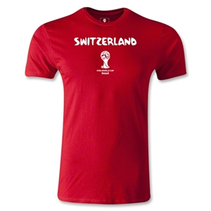 Switzerland 2014 FIFA World Cup Brazil(TM) Men's Premium Core T-Shirt (Red)
