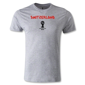 Switzerland 2014 FIFA World Cup Brazil(TM) Men's Premium Core T-Shirt (Grey)